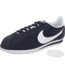 tenis lifestyle azul-blanco nike classic cortez nylon