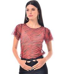 camiseta para mujer en mesh multicolor color-multicolor-talla-xxs