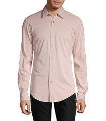 boss hugo boss men's slim-fit long-sleeve shirt - light pastel red - size xl
