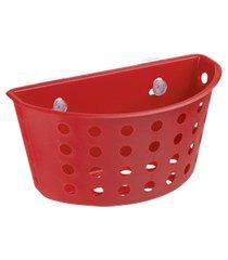 cesta com ventosas one 20,3 x 11,5 x 10 cm vermelho bold coza vermelho
