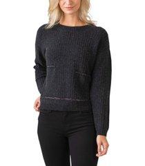 belldini black label metal chain crewneck pullover sweater