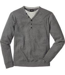 maglione effetto 2 in 1 (grigio) - bpc bonprix collection