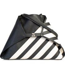 akris ai stripe leather tote -