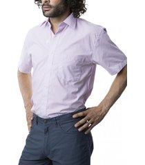 camisa lisa cuello semi italiano lavanda kotting