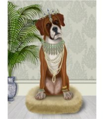 "fab funky boxer and tiara, full canvas art - 27"" x 33.5"""