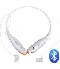 audífonos inalámbricos, collar inalámbrico auricular audifonos bluetooth manos libres  en el oído estéreo audifonos bluetooth manos libres  4.0 auriculares cuello (blanco)