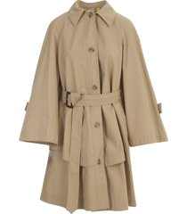 moncler dungeness trench w/belt