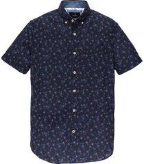 overhemd print korte mouw blauw vsi203252-5318