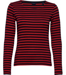 1x1 rib ls t-shirt t-shirts & tops long-sleeved rood gant
