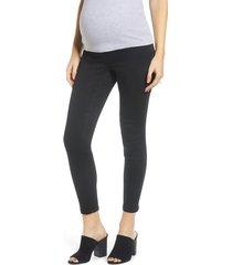 1822 denim contour ankle skinny maternity jeans, size 31 in black at nordstrom