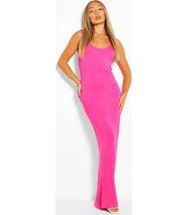 maxi jurk, warm roze