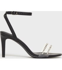 nly shoes rhinestone strap heel high heel