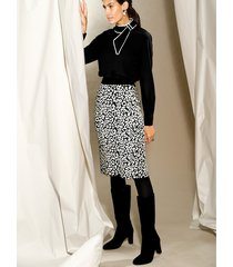 kjol amy vermont svart::vit