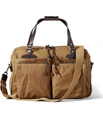 filson 48 hour tin cloth duffle bag - dark tan 1107032824