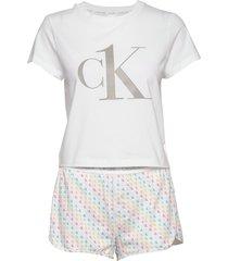 s/s short set pyjamas vit calvin klein