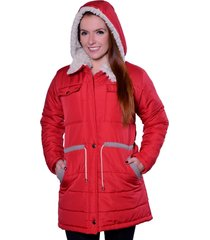 casaco sobretudo carbella carbella frio extremo vermelho