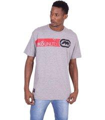 camiseta ecko plus size básica estampada cinza