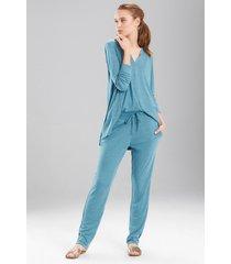 speckled interlock pants sleep pajamas & loungewear, women's, size l, n natori