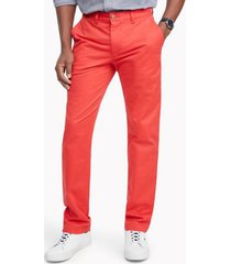 tommy hilfiger men's custom fit essential stretch chino poinsettia - 30/34