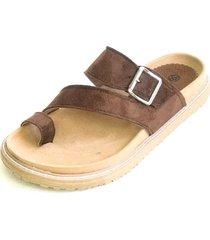 sandalia marrón omm