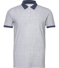 aop polo shirt s/s polos short-sleeved blå lindbergh