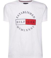 camiseta corp circular tee blanco tommy hilfiger