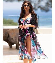 orchid luxe kimono
