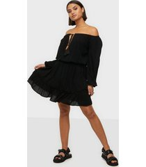 missguided bardot tassel dress skater dresses