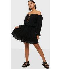 missguided bardot tassel dress skater dresses