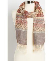 maurices womens mix print oblong scarf