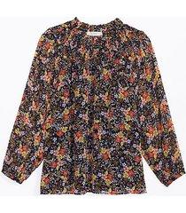 loft maternity floral smocked yoke blouse
