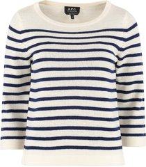 a.p.c. claudine striped pullover