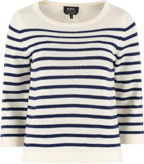 a.p.c. claudine striped pullover