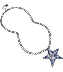 betsey johnson star pendant long necklace