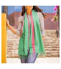 cotton shawl, 'leaf style' (mexico)
