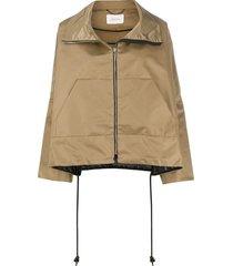 dorothee schumacher drawstring cape jacket - brown