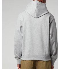 kenzo men's k-tiger classic hoodie - pearl grey - xl