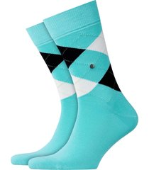 burlington king socks - aqua/black - 21020-6423