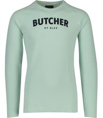 butcher of blue sweater mint groen
