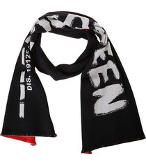 alexander mcqueen logo print scarf