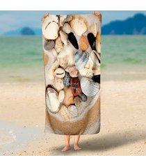 stone-shells-heart-shape-print-3d-round-beach-towels-serviette-de-plage-ronde-re
