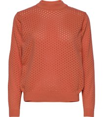 sweater viborg mesh coral fusion sweat-shirt tröja orange dedicated