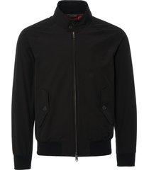 baracuta g9 black harrington jacket brcps0001