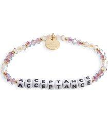 women's little words project acceptance beaded stretch bracelet
