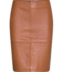 2nd cecilia knälång kjol brun 2ndday