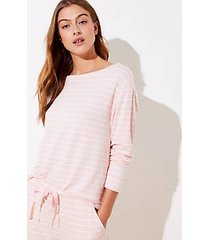 loft petite striped pajama sweatshirt