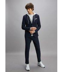 tommy hilfiger men's slim fit packable flex suit desert sky - 42