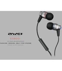 audífonos bluetooth manos llibres, awei es-800i en el oído estéreo con micrófono marca profesional auricular (púrpura)
