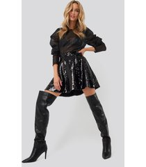 na-kd party sequin mini skirt - black