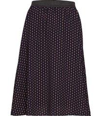 woven skirt below knee knälång kjol svart saint tropez